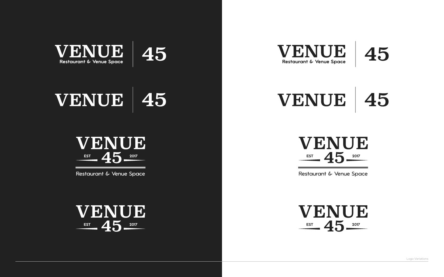 Venue 45 Logo Variations